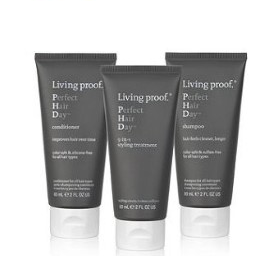 Living Proof Perfect Hair Day Kit, Shampoo, Conditioner, & Styling Treatment 3 Count