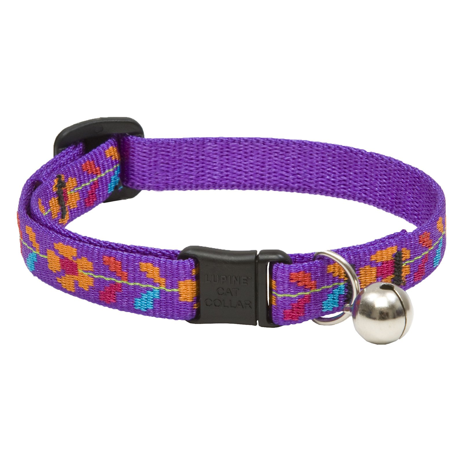 """Lupine Collars and Leads 51127 1 2"""" x 8-12"""" Spring Fling Cat Collar with Bell by Generic"""