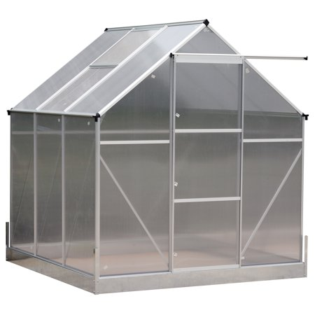 Outsunny 6.25'W x 7.2'H Portable Outdoor Walk-In Garden Greenhouse Polycarbonate Planter (Polycarbonate Greenhouse)
