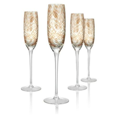 Pink Champagne Glasses (Artland Misty Champagne Flutes - Set of)
