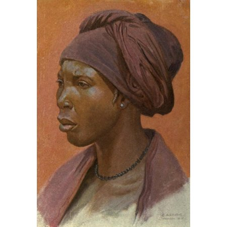 The Voice Of Africa 1913 Nupe Woman Canvas Art   Carl Arriens  18 X 24
