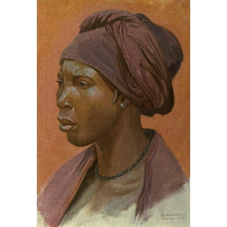 The Voice Of Africa 1913 Nupe Woman Poster Print By  Carl Arriens