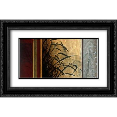 Journey Framed - Journey To Tai Shan 2x Matted 24x16 Black Ornate Framed Art Print by Li-Leger, Don