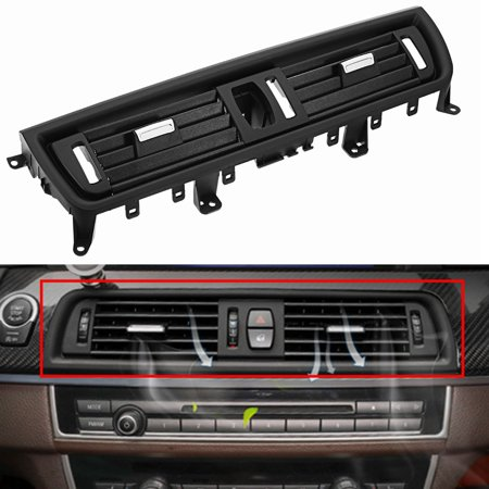 Front Console Grill Dash AC Air Vent Kit Black For BMW 5 Series 520 523 525 528 530 Bmw Wood Dash Kits