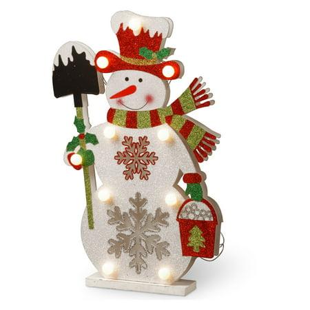Pre Lit 17  Wooden Snowman