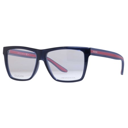 1abe02ae3e Gucci GG 1008 0549 Blue Gray Rectangular Men s Eyeglasses - Walmart.com