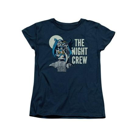 DC Comics Batman Robin & Batgirl Night Crew Women's T-Shirt Tee](Womens Robin Shirt With Cape)