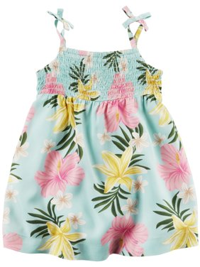 Product Image Carters Baby Girls Hawaiian Floral Dress Green e4dc5897f