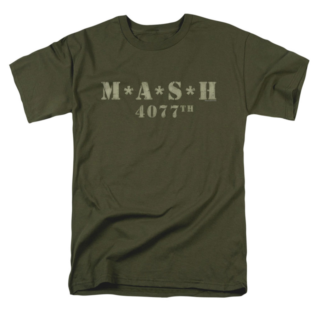 Mash Men's  Distressed Logo T-shirt Green