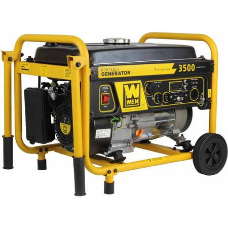 WEN 56352 3500-Watt 212cc Portable Generator with Wheel Kit (Hydrogen Gas Generator Kit)