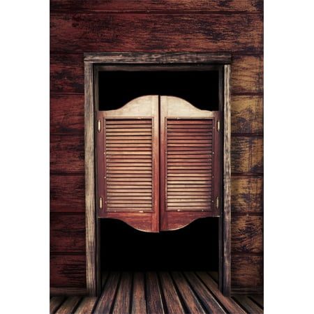 HelloDecor Polyster 5x7ft Photography Background Antique Old House Rustic  Rural Old Western Swinging Saloon Doors Classical - HelloDecor Polyster 5x7ft Photography Background Antique Old House