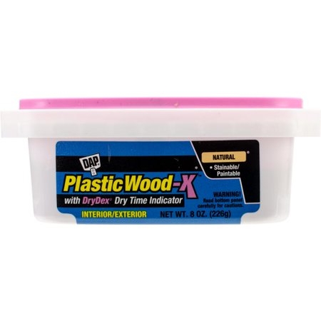 Plastic Wood Latex Filler X W/dry Time Indicator 8oz-