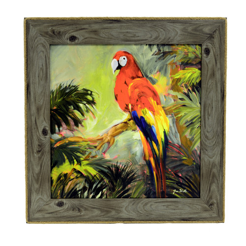 Decor Therapy 'Parrots at Bay' Framed Painting Print
