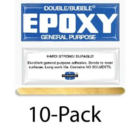 Hardman Double Bubble Blue General Purpose SlowSetting Epoxy 2 hours 10 Packs #04005