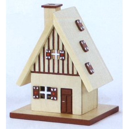 Gingerbread House German Christmas Incense Smoker Handcrafted Erzgebirge Germany