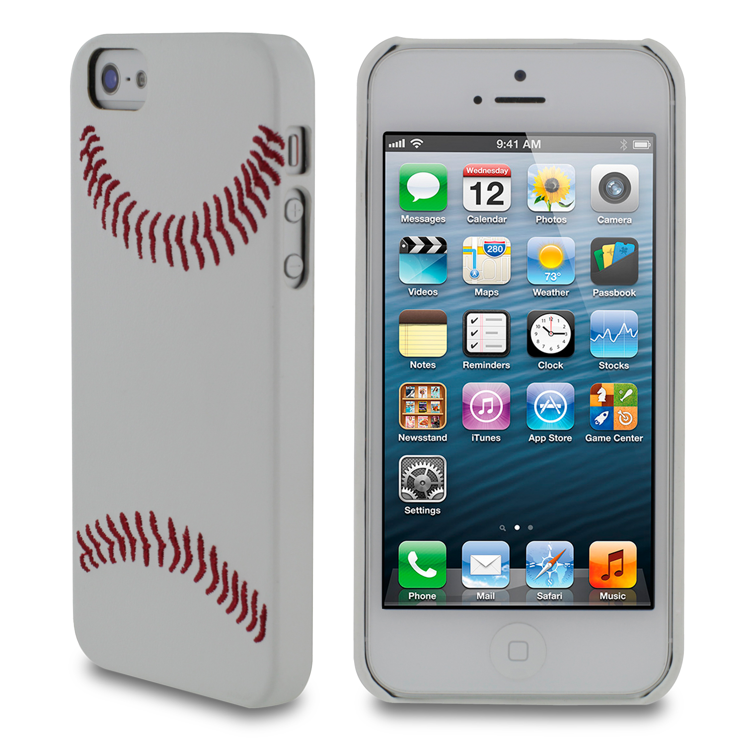 rooCASE SportsFan Sport Series Slim Shell Case Cover for Apple iPhone 5S 5