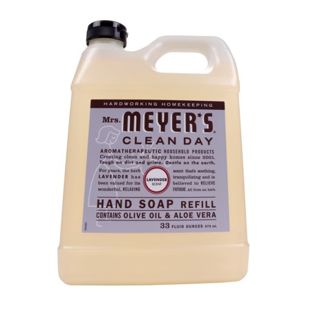 (2 pack) Mrs. Meyer's Clean Day Liquid Hand Soap Refill, Lavender, 33 Oz
