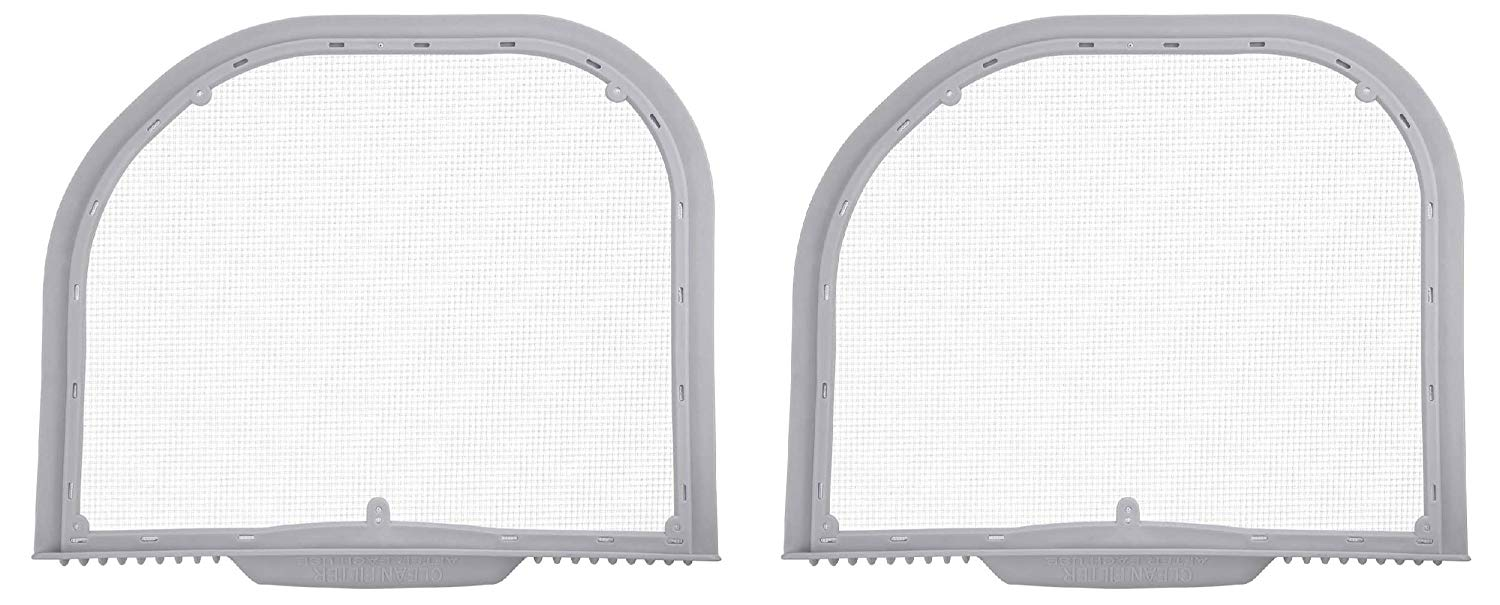2 Filters Nispira Lint Trap Screen Filter Replacement For LG Electronics Cloth Dryer 5231EL1001C