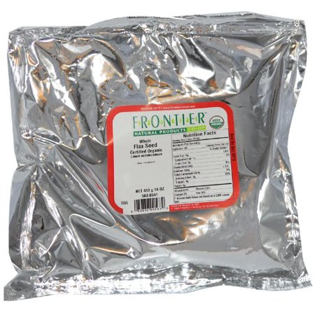 Frontier Herb 100% Organic Whole Flax Seed 1 LB (Pack of 1)