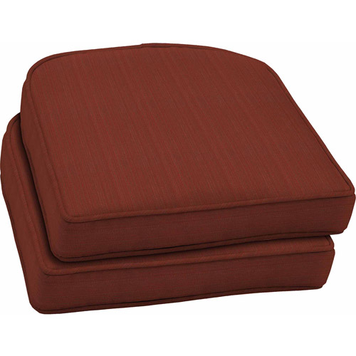 Better Homes and Gardens Outdoor Wicker Seat Cushions Red Stria