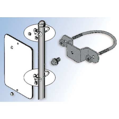 - Accuform HSR123 Accessories Hardware & Accessories CLAMP U-BOLT SIGN MOUNTING BRACKET