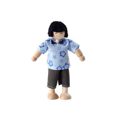 Plan Toys Asian Dad Doll  Cheerful Asian Dad Doll From Plan Toys Is A Great Addition To Your Childs Dollhouse Family And The Perfect Size For Almost Any    By Plantoys