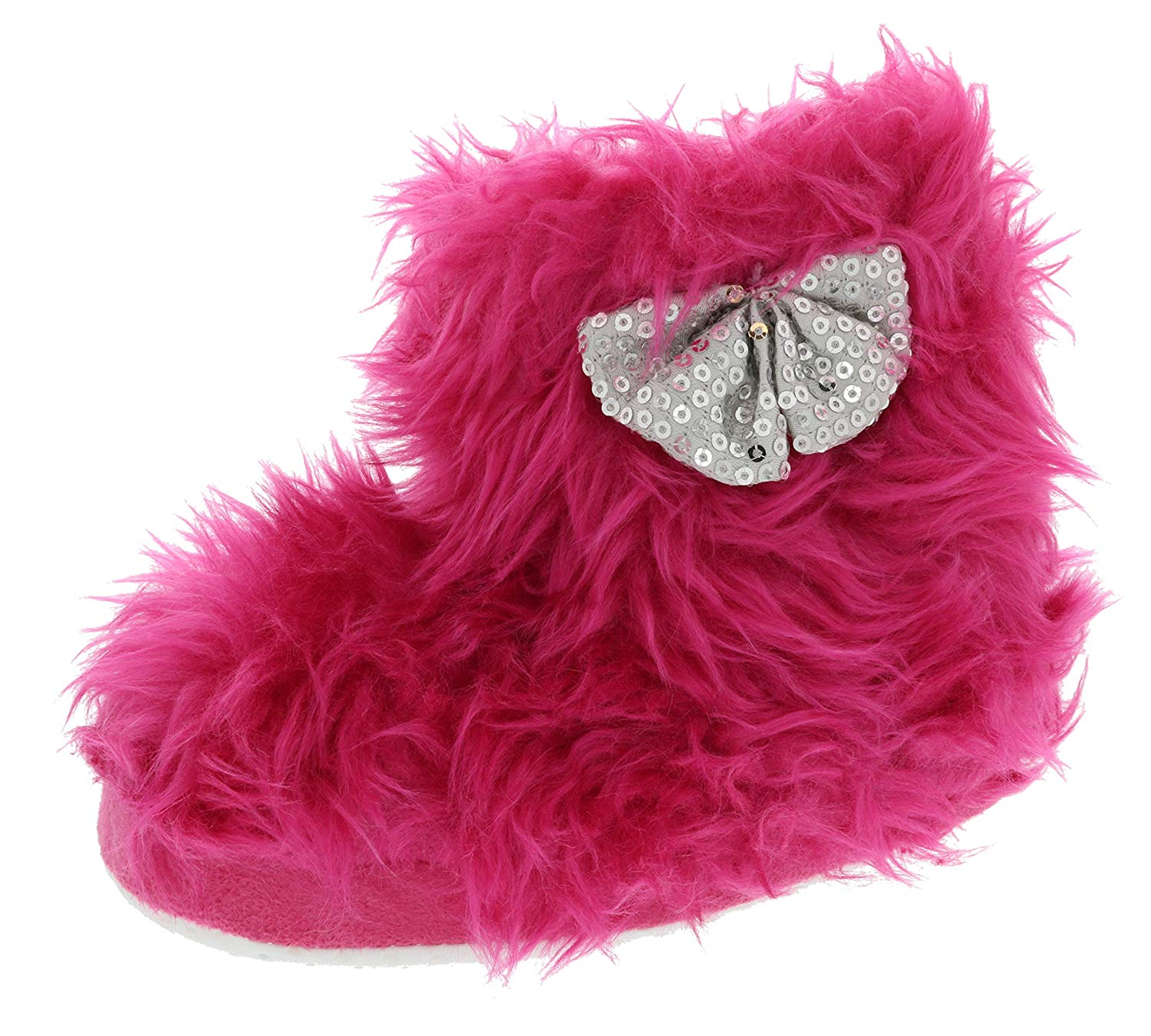 3d8fa29174800 Chatties Toddler Rock Star Furry Slipper Boots (Small 5 6