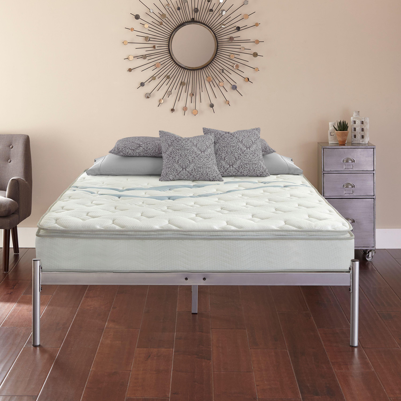 """Contura Flex 10"""" Hybrid Mattress plus Premier Urban Loft Platform Base Bed Frame Set, Multiple Colors & Sizes"""