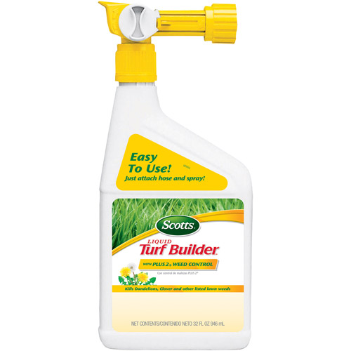 Scotts Liquid Turf Builder with PLUS 2 Weed Control, 32 fl oz