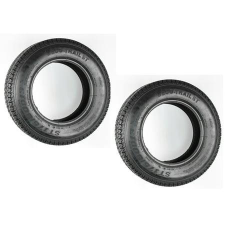 2-Pack Trailer Tires ST175/80D13 175/80 D 13 ST 175/80 D 13 Load Range C Tire - 13 Nights Of Halloween Trailer