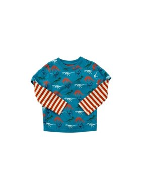 c7bb5791e Toddler Boy All Over Dino Print Long Sleeve T-shirt. Rockin Baby LLC