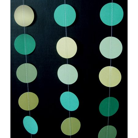 Quasimoon Green Ombre Paper Circle Garland by PaperLanternStore