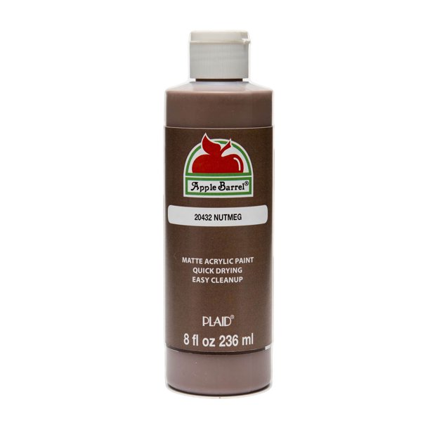 Apple Barrel 20432E Acrylic Craft Paint, Matte Finish, Nutmeg, 8 fl oz