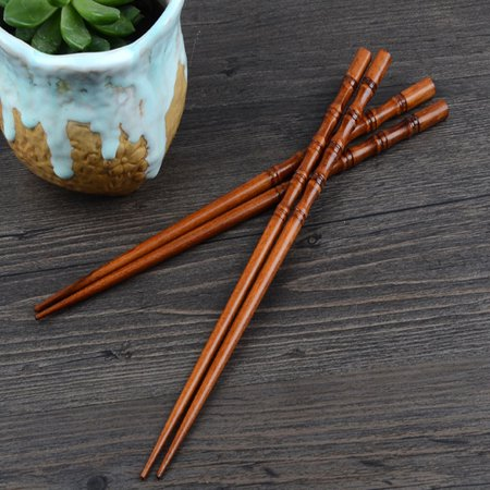 2 Pairs Creative Natural Handmade Wood Chopsticks Gift Tableware Chopsticks
