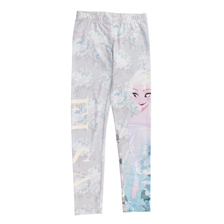 Disney Frozen Elsa Girls Floral Print Leggings | L Floral Print Leggings