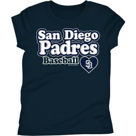 San Diego Halloween Baseball (MLB San Diego Padres Girls Short Sleeve Team Color Graphic)