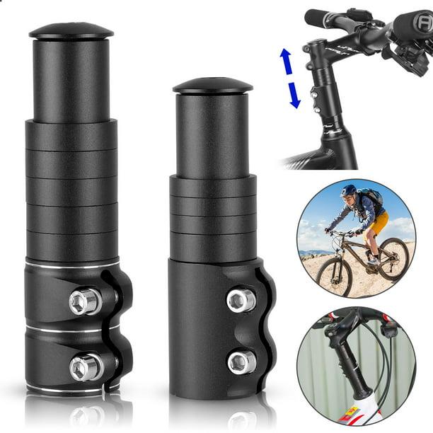 Bicycle Fork Stem Extender MTB Bike Handlebar Riser Cycle Head Up Alloy Adapter
