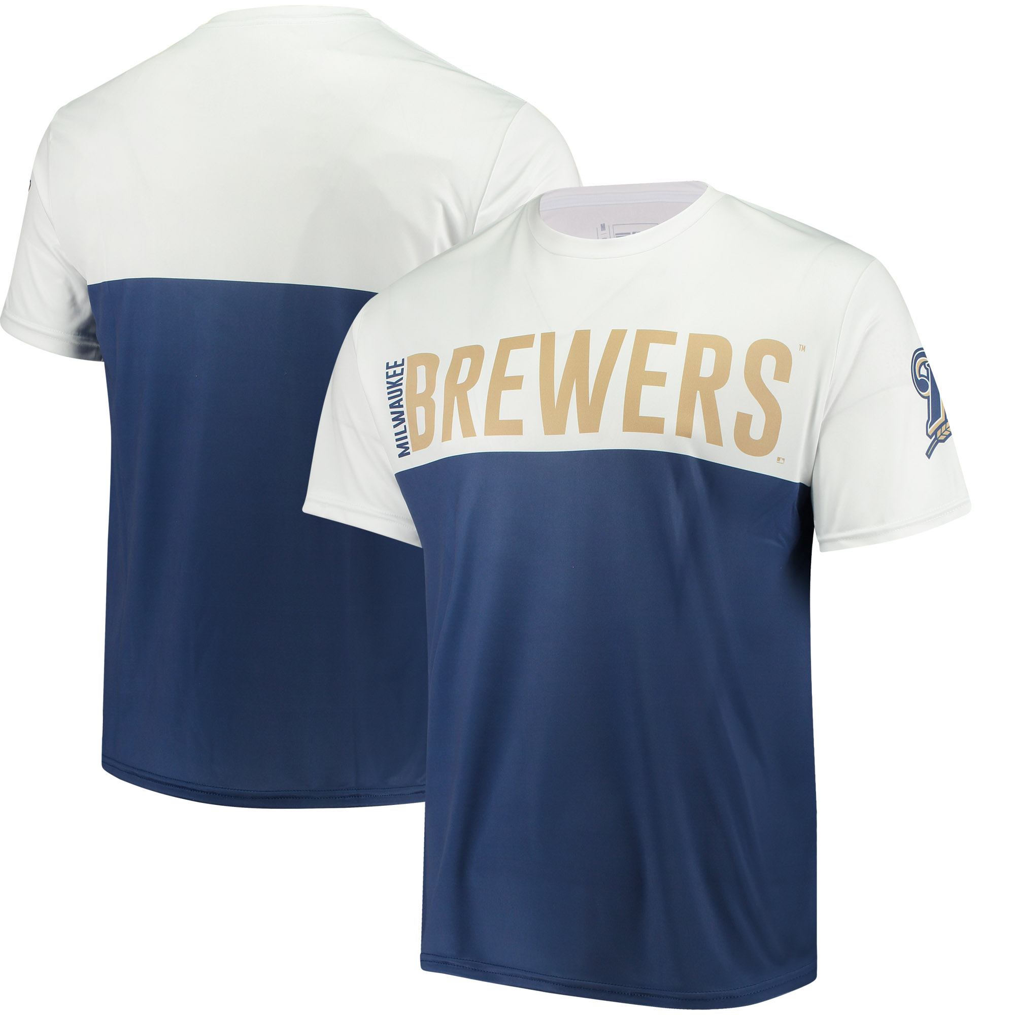 Milwaukee Brewers Colorblock Sublimated T-Shirt - Tan
