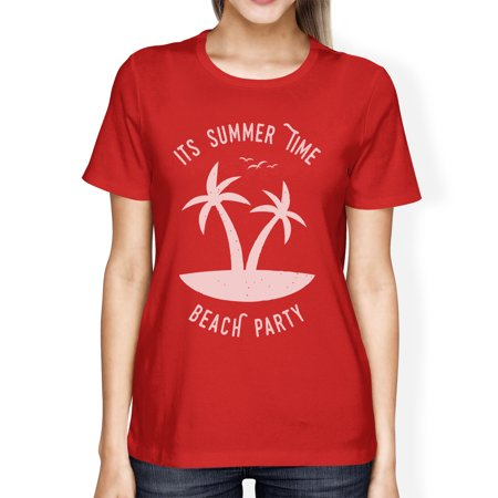 Its Party Time (Its Summer Time Beach Party Womens Red Funny Graphic Summer)