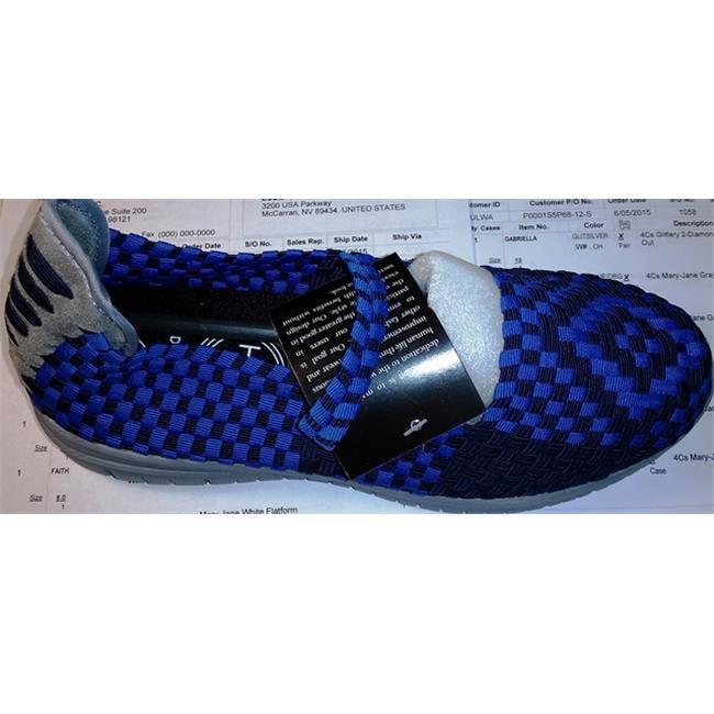 Heal USA Cali Shoe, Navy Blue & Ocean Blue - Comfort Size 10