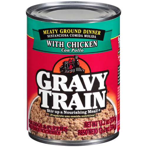 Gravy Train Meaty Ground Dinner with Chicken Wet Dog Food, 13.2-Ounce Can