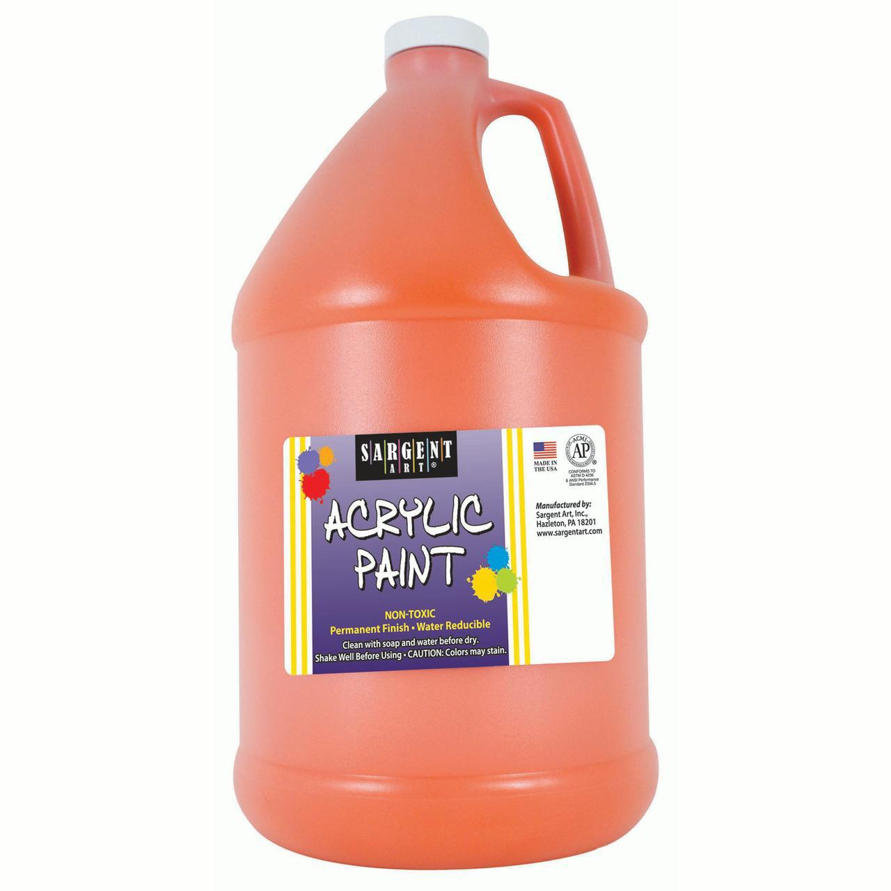 Sargent Art® Acrylic Paint, Orange, 64 oz. Bottle (Half Gallon)