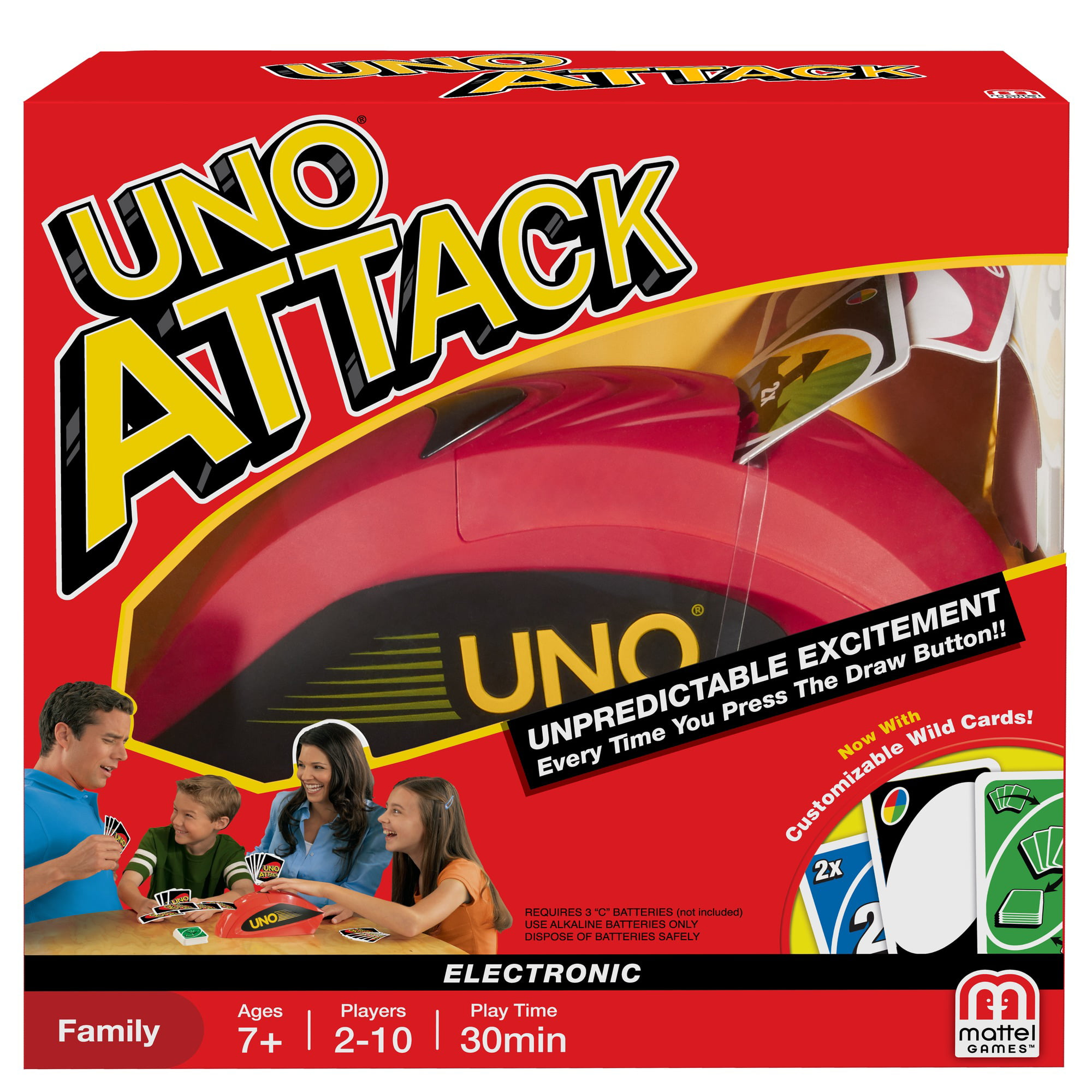 Uno Color Number Matching Card Game For 2 10 Players Ages 7y Walmart Com Walmart Com