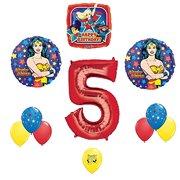 Wonder Woman Party Supplies DC Superhero Girls 5th Birthday Balloon Decoration Kit