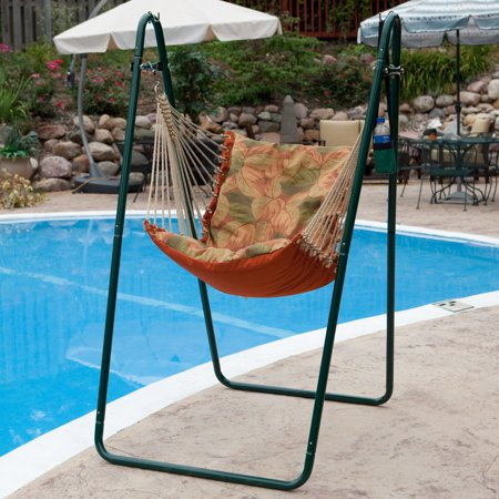 Algoma Soft Comfort Hammock Chair Stand Stripe Green