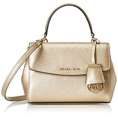 Michael Kors women's ava small cross body bag, pale gold,...