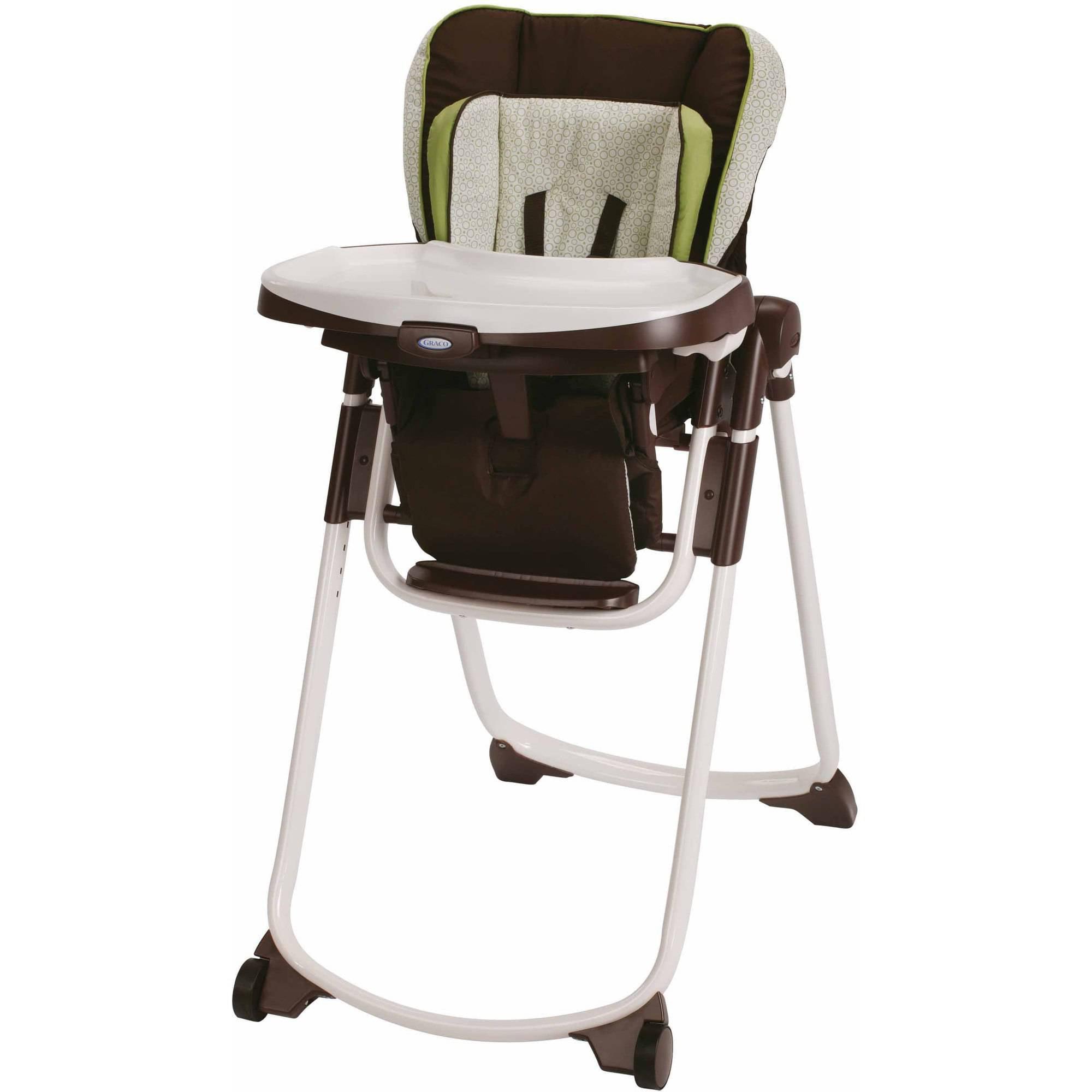Graco Slim Spaces Space Saver High Chair, Go Green