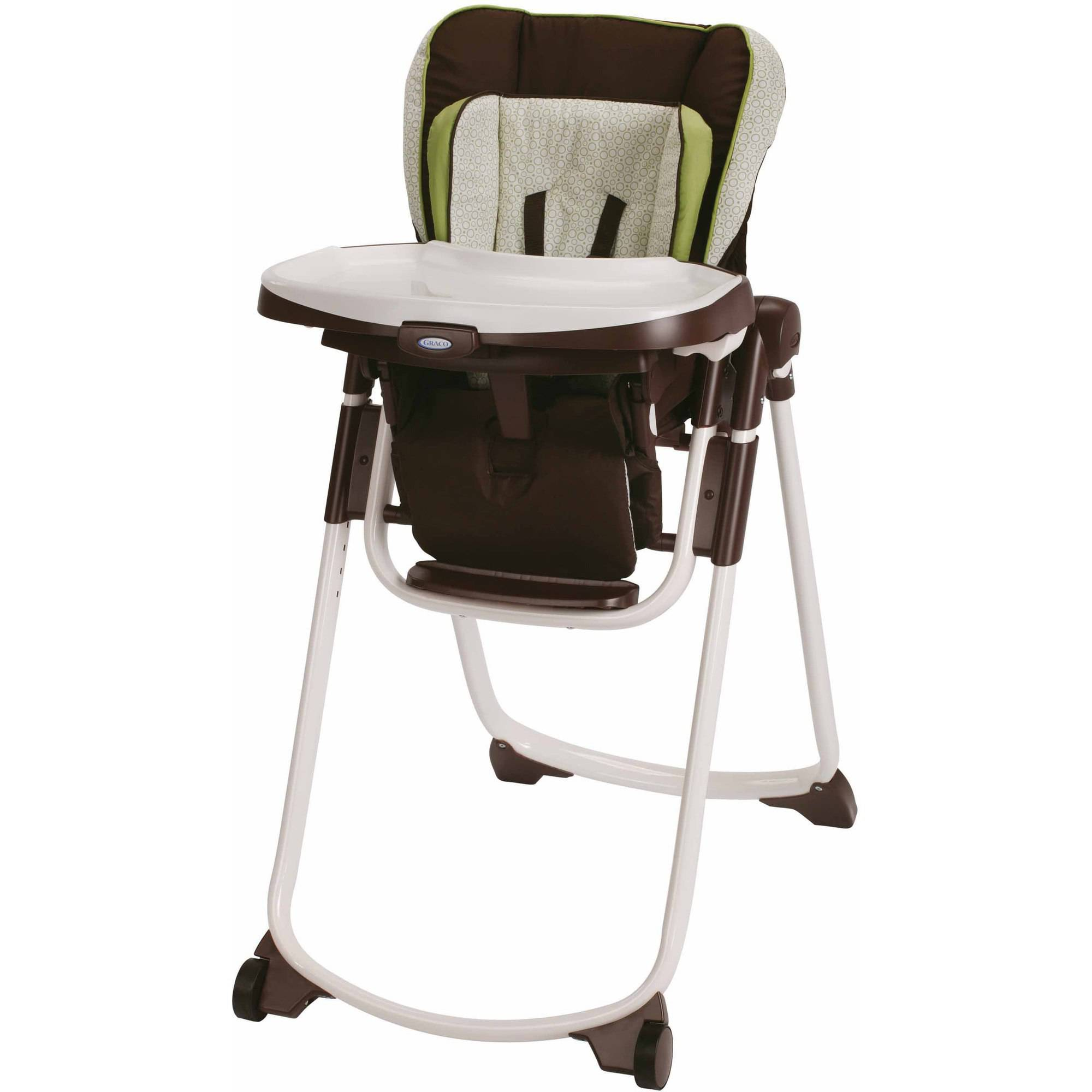 Graco Slim Spaces Space Saver High Chair, Go Green