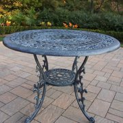 Oakland Living Mississippi Cast Aluminum 42 in. Patio Dining Table