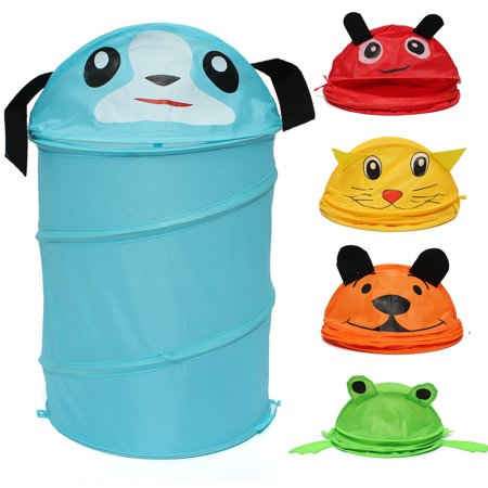 Kids Baby Foldable Laundry Hamper Up Animal Laundry Basket Bag Toys Storage Dirty Washing Clothes & Toy Storage Organizer